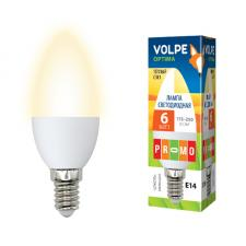 Volpe LED-C37-6W/WW/E14/FR/O картон