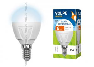 Volpe LED-G45-6W/NW/E14/FR/S картон