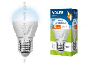 Volpe LED-G45-6W/NW/E27/FR/S картон