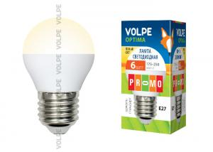 Volpe LED-G45-6W/WW/E27/FR/O картон