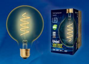 Uniel LED-G95-4W/GOLDEN/E27/CW GLV21GO