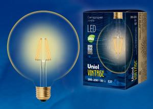 Uniel LED-G125-8W/GOLDEN/E27 GLV21GO