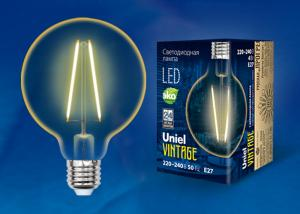 Uniel LED-G95-4W/GOLDEN/E27 GLV21GO